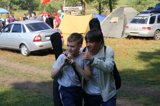 Бардовские костры 2011 -  Лучший дуэт Егор и Олег Шабатовские